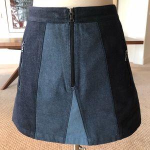 BCBG Denim Mini Skirt